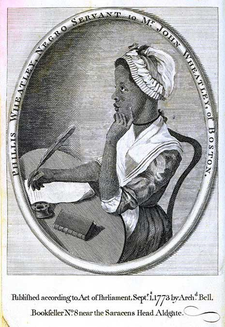 HONORING PHILLIS WHEATLEY DURING BLACK HISTORY MONTH  (c. 1753-1784)