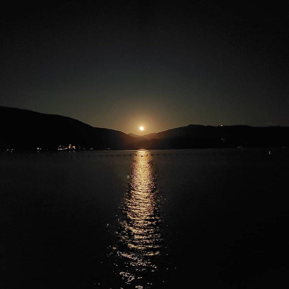 Moonlight on Lake Dillon